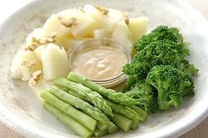 「温野菜の味噌マヨネーズサラダ 」の画像
